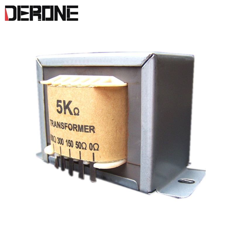 Audio output Transformer 0-8-50-150-300-600ohm 5W 36H for Single-ended Tube Headphone Amplifier