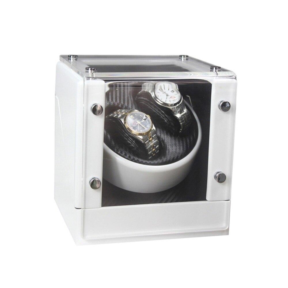 Automática + 0 Dobadoura do Relógio de Madeira Caixa de Armazenamento Caixa de Exposição Relógio Enrolador Rotação Branco 2020 lt 2
