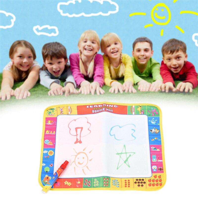 Minocool 2 Стиль Детские Игрушки для рисования фрукты овощи познания Doodle картина Вода Рисование играть Коврики с Волшебное перо Игрушечные лоша...