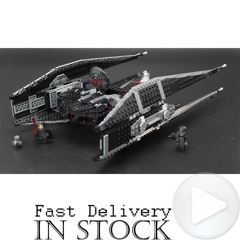 LEPIN 05127 Kylo Ren's TIE Fighter Star Clone Wars Building Blocks Bricks DIY Toys For Children brinquedos Compatible with 75179 подвесной светильник idlamp 248 1 green