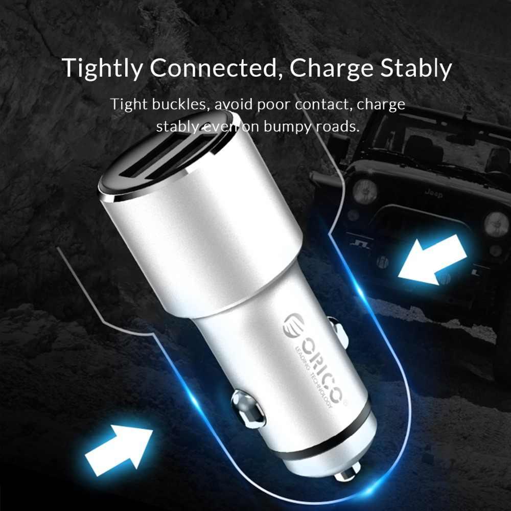 Автомобильное зарядное устройство ORICO 5V 12W Mini Dual USB для быстрой зарядки iPhone, Huawei, Xiaomi, адаптер питания, прикуриватель, автомобильное зарядное устройство
