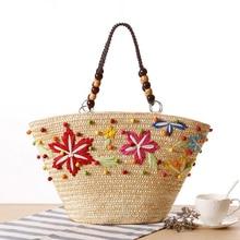 Bohemian Women Vacation Straw Handbag 2017 Summer Beach Bag Weaven Shoulder Bag Ladies Travel Tote Bolsas