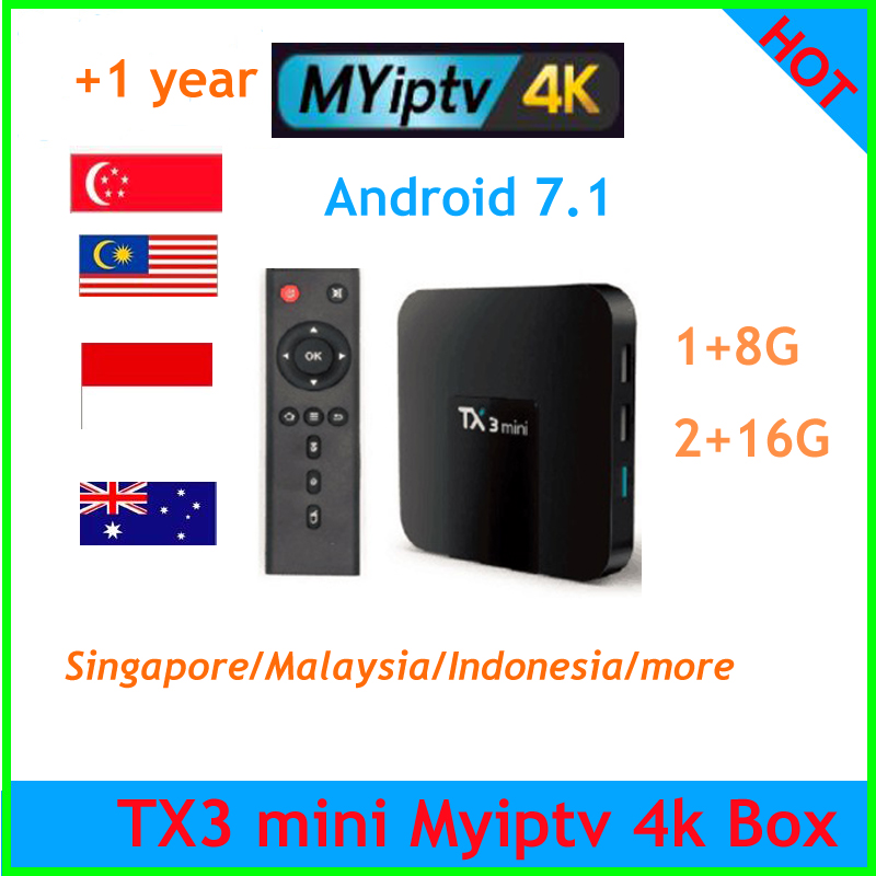 US $30 8 12% OFF|TX3 mini Android 7 1 s905w with MYIPTV subscription  support Malaysia Singapore iptv Indonesia Channel Southeast Asia  Australia-in