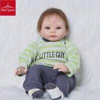Кукла Reborn Baby маленькая Реалистичная кукла Reborn Baby Toy Boneca Alive, набитая зеленым пальто для детей