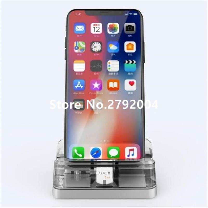 Système dalarme daffichage de téléphone portable de 5 ensemble/lot avec le support acrylique pour lexposition de sécurité de magasin de détail