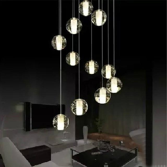 modern stairwell lighting. modern led crystal pendant lamp multi light linear suspension bubble ball stairwell lighting