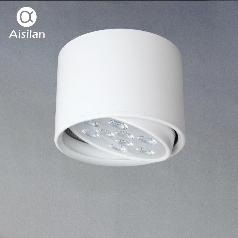 Aisilan LED Downlight Surface Monté Plafond Lampes Réglable AC85-260V 9 w/12 w pour Salon Chambre Éclairage Commercial