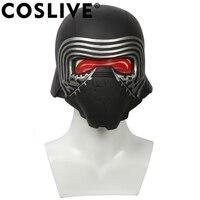 Coslive Звездные войны 7 The Force Awakens роспись Kylo Ren шлем маска Cool ПВХ полный голову шлем с светодио дный Вечерние реквизит для косплея