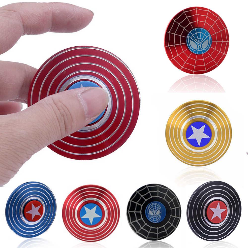 Капитан Америка человек паук Marvel Мстители легенды Непоседа антистрессовые Спиннеры ручной Спиннеры колеса тревога металлический револьвер игрушки