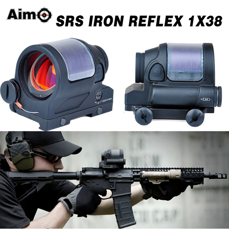 Hunting Red Dot SRS Iron Reflex 1x38 Sight Scope Optics Riflescope 1.75 MOA aim o red dot tactical hunting sight scope srs reflex 1x38 iron optics riflescope for airgun ao3040