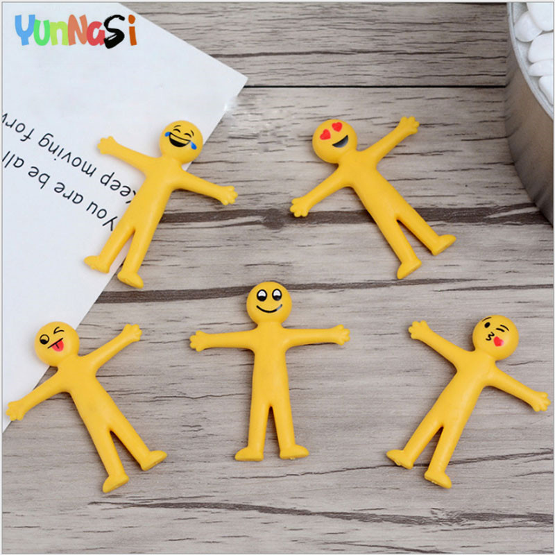 YunNasi Antistress Toy 5Pcs Phiz Decompression Toys Adult Facial Expression Smile Squishy Toys Squeeze Slow Rising Stress Relief