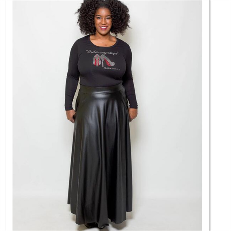 Compare Prices on Maxi Long Black Faux Leather Skirt- Online ...