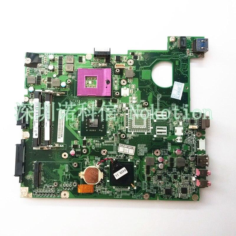 NOKOTION MBEDX06002 DA0ZR6MB6F0 Laptop Motherboard For Extensa 5635 Main System Board S478 GM45 DDR3 Free cpu