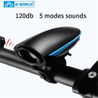 INBIKE 120 db Yüksek Desibel Bisiklet Boynuz Elektrikli USB Şarj MTB Yol Bisikleti Bisiklet Aksesuarları Bisiklet Boynuz Retro Elektronik Çan