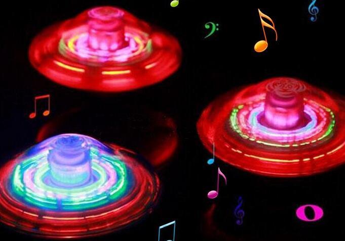 Ailin Light Up Laser Color Flash LED Lighting Music Spinner Spinning Fantastic Effect Party Kids Child Toy Sound Gyro Peg-Top