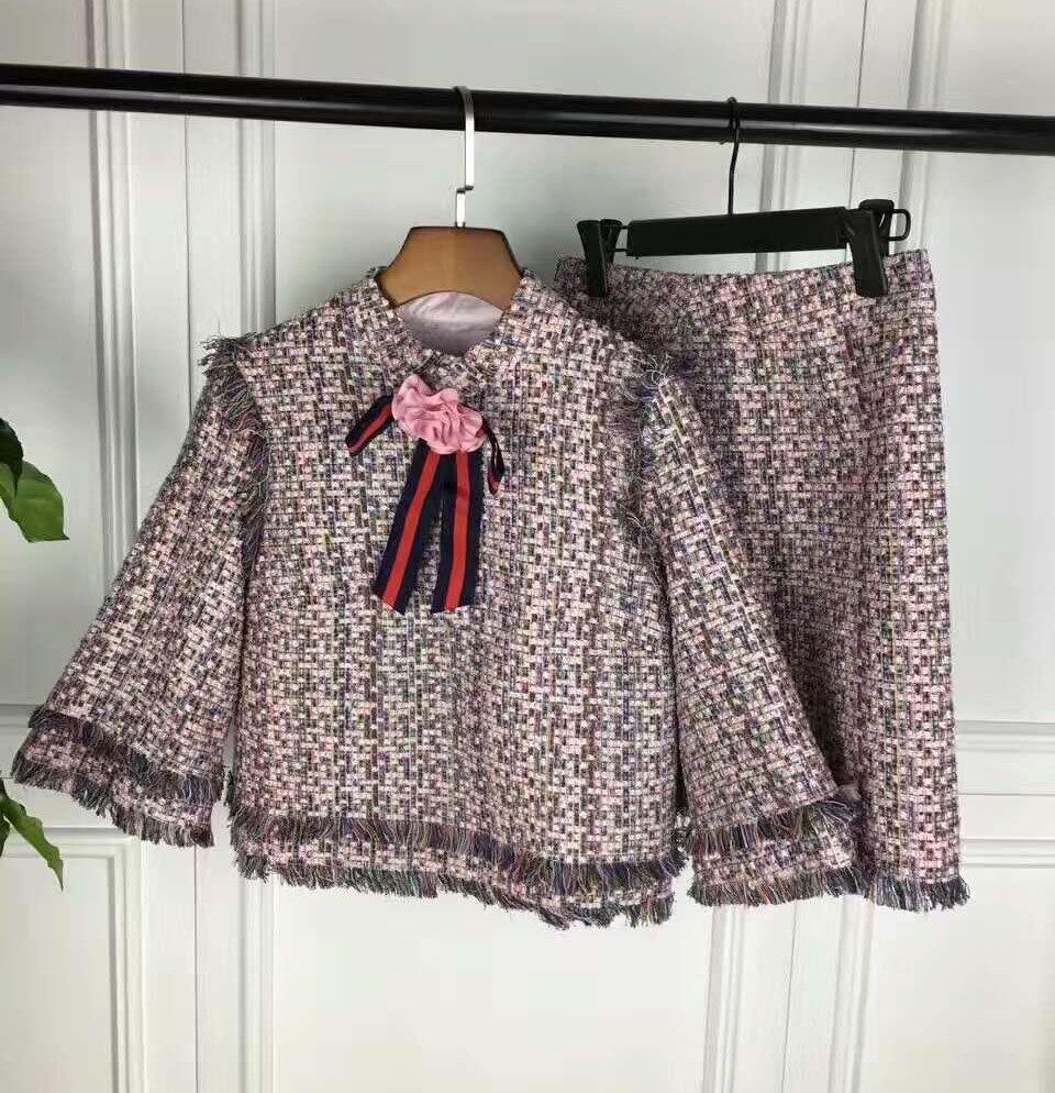 elegant jacket and skirt set,amazing tweed two piece set ...