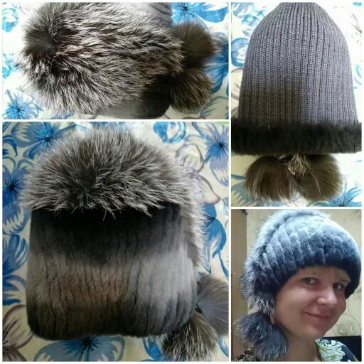 c1e24cdcdfc LTGFUR Winter Woman Rex Rabbit Fur Hat With Whole Fox Fur Top 2017 ...