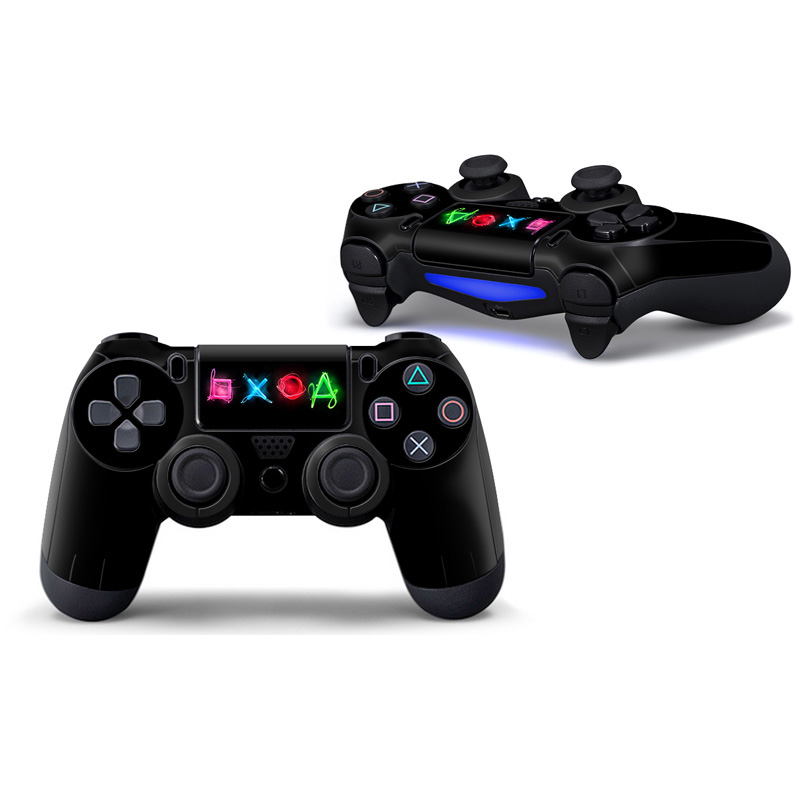Cool Fashion 2pcs Design Vinyl 2pcs for PS4 controller Touch Pad skin stickers