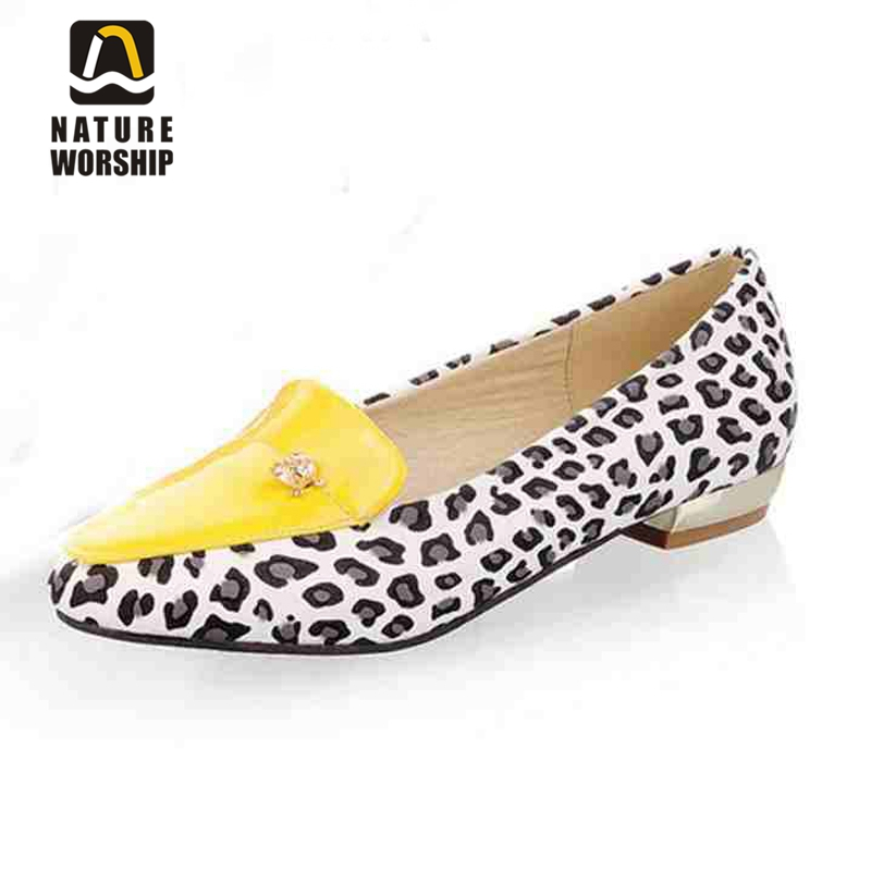 New arrivel women shoes Casual flats shoes Slip-On Pointed Toe fashion Leopard shoes comfortable spring autumn shoes 2017 new fashion spring summer boat shoes women candy color flats pointed toe slip on flat fashion casual plus size pu shoes