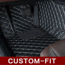 Special fit car floor mats for BMW X5 E70 F15 PVC Leather anti slip waterproof car styling full cover rugs custom carpet liners