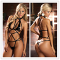 2016 New Black/Pink/Blue Faux Leather Latex Sexy Lingerie Catsuit One Piece Set Women Erotic Night Dress BodySuit Costume