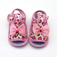 Newborn baby girl walking shoes Leopard Print Prewalker shoes Soft Sole Single baby princess shoes baby infant sneakers(China)