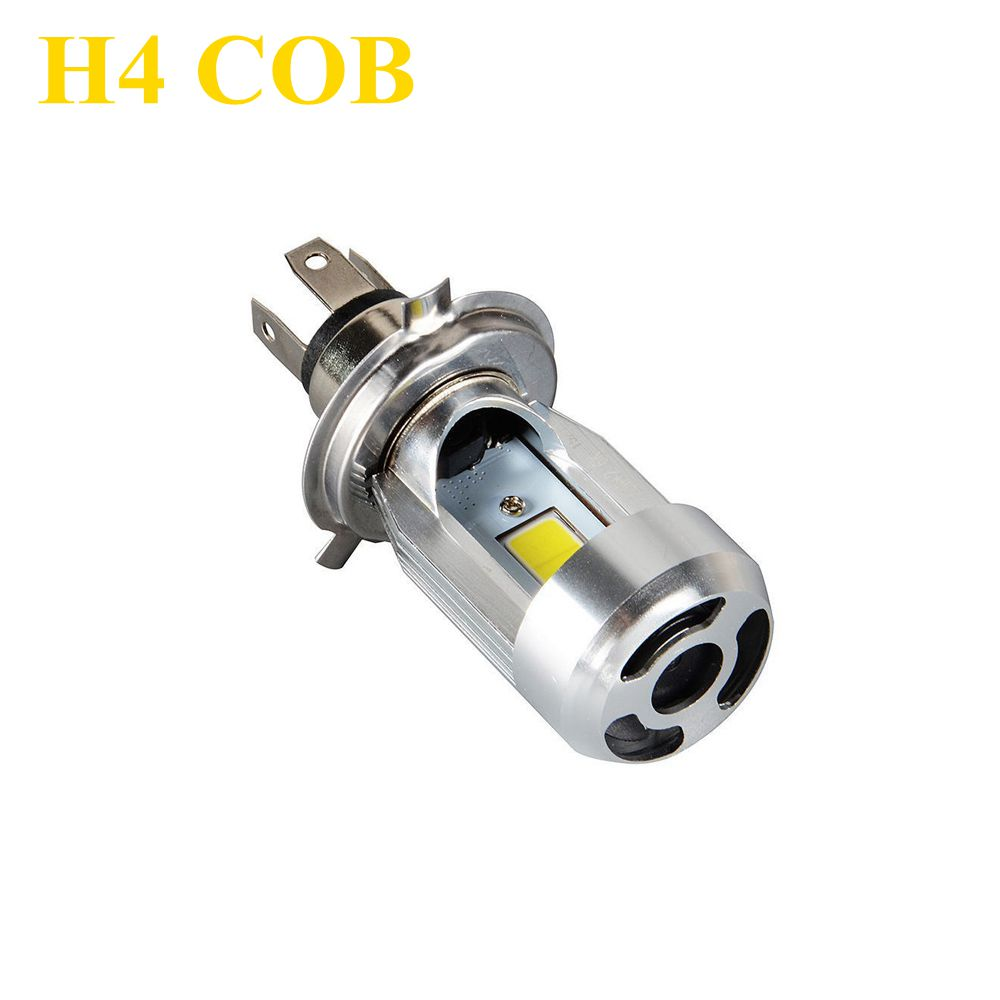 h4 cob led 20W 2000LM Hi/Lo beam DC12V 6500K HS1/H4 LED Motorcycle Headlamp COB H4 Bulb Headlight Multi mode Wholesale h4 led motorcycle headlight headlamp bulb cob h4 led hi lo beam scooter moto light replace for halogen 6 36v pure white 6000k