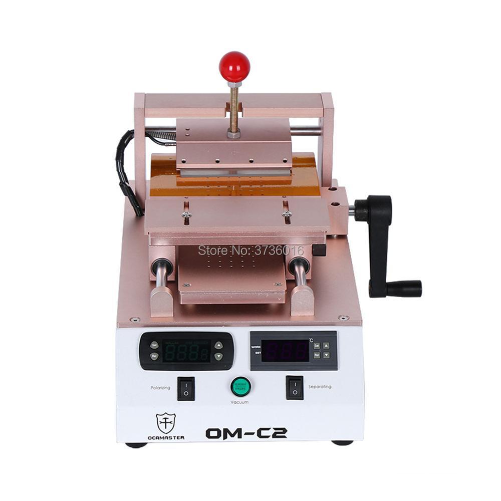 Séparateur LCD de OM C2 et machine de dissolvant de polariseur intégrée dans la double pompe à vide avec aspiration puissante pour la réparation de téléphone portable