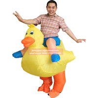 Be The Hit With This Fancy Suit Yellow Duck Inflatable Costume