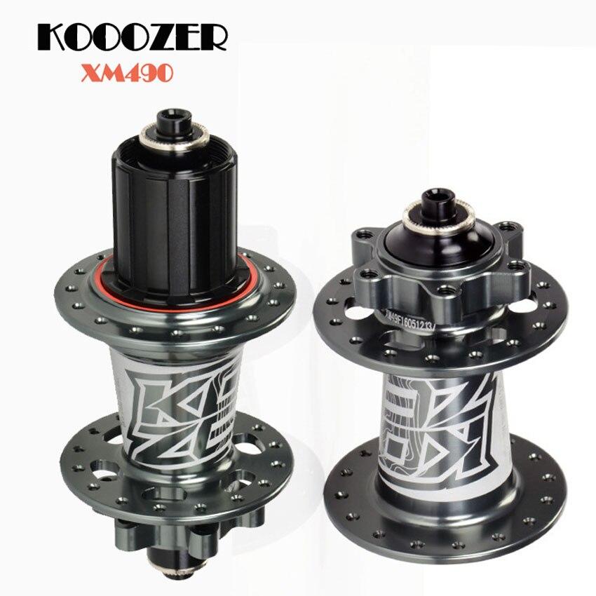 Moyeux de vélo KOOZER XM490 32 trous ultralégers hup avant + arrière + jeu de dégagement rapide pour pièces de frein à disque VTT