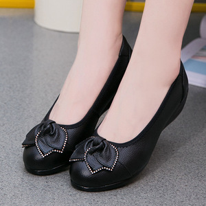 Image 4 - GKTINOO Plus Size(34 43)Loafers Comfortable Women Genuine Leather Flat Shoes Woman Casual Nurse Work Shoes Women Flats 6 colors