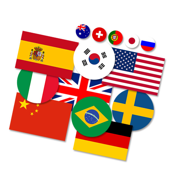 10pc national flag car sticker australia france uk usa germany italy korea spain brazil sweden flag