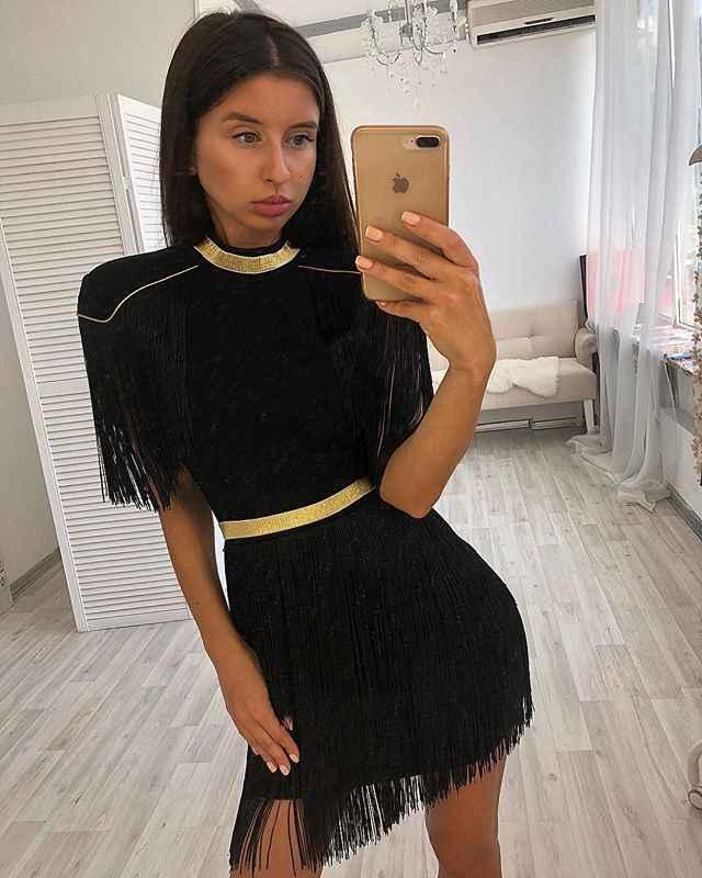 2019 nowy wysokiej jakości kobiety sukienka hurtownia czerwony czarny biały fringe z złoty bandaż sukienka sukienka na imprezę sukienka + garnitur