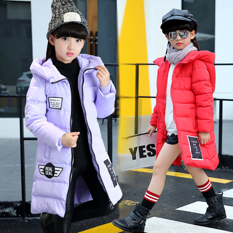 2016 The New Europe And The United States Children's Long Winter Cotton-padded Jacket Girl Children Labeling Cotton Baby Clothes foreign trade of the original single girl yang gaori clothing europe and the united states in the big children s cotton padded j
