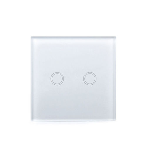 Wall Light Switch Smart Switch Remote Control 2 Gang Touch Luxury Glass Switch Wireless remote control touch light switch smart home eu touch switch wireless remote control wall touch switch 3 gang 1 way white crystal glass panel waterproof power
