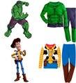 Venda quente O Hulk Toy Story Xerife Woody crianças Bebés Meninos Pijamas roupa Pijamas ternos das crianças conjunto de roupas