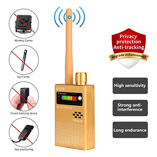 Wireless RF Signal Detector Cell Phone Detector Full Range Signal Bug Detector Finder GSM Device1 8000