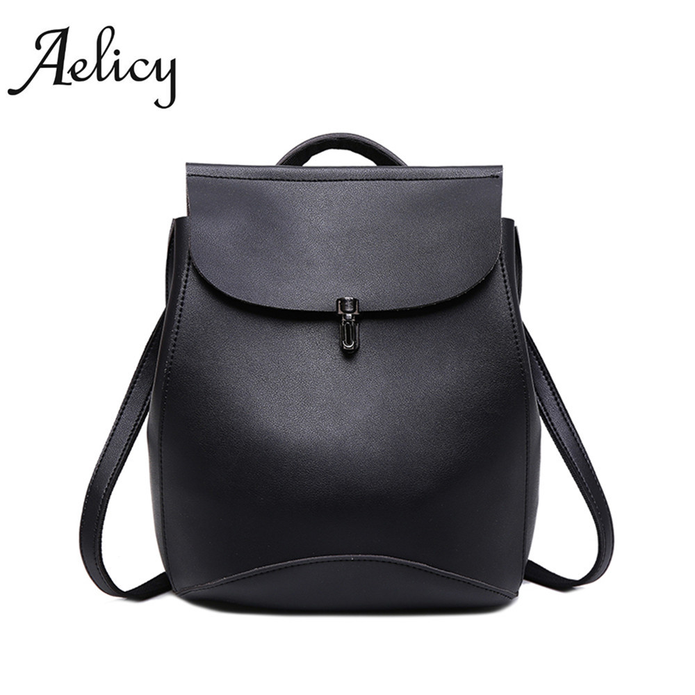 Aelicy Preppy Style Backpack Fashion Backpack For Teenage Girls Ladies School Bags For Girls teenage backpack female casual 2018 women s leather backpack monster fashion ladies schoolbag for teenager girls female cute backpack preppy casual backpack
