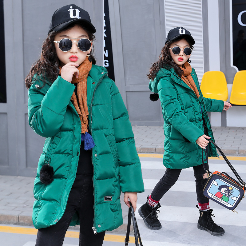 2018 Girl winter coat Children's Outerwear thick Kids Fashion Casual Child Jackets For Girls Warm Winter Hooded Jacket Coats