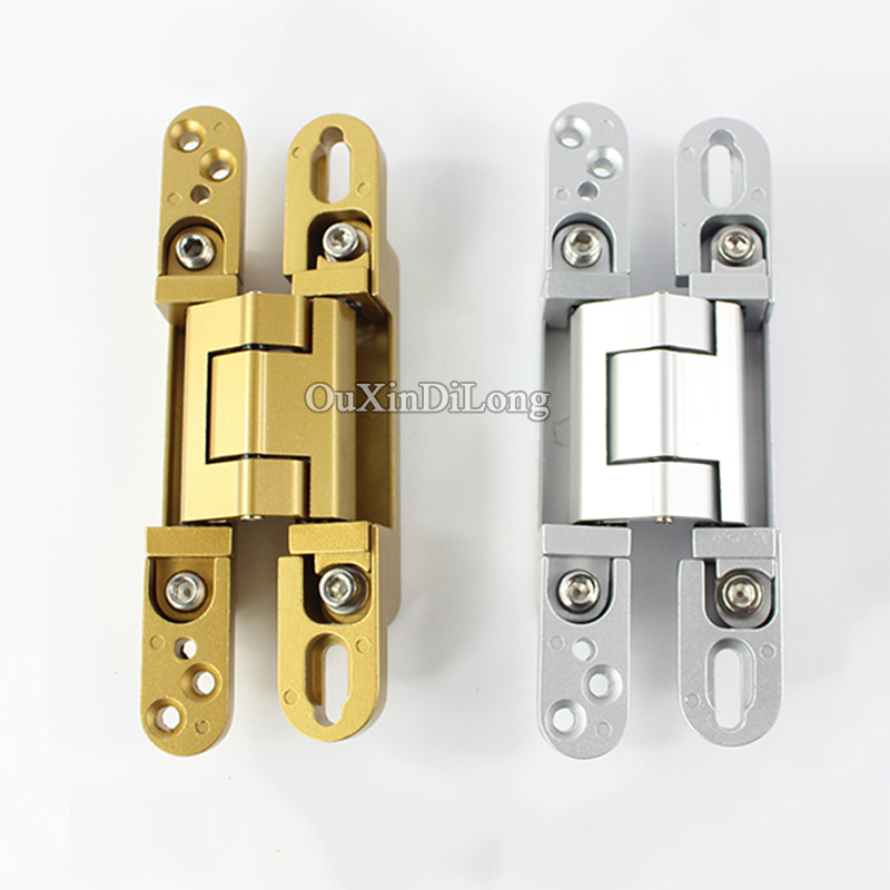 HOT 10PCS Adjustable Invisible Door Hinges Heavy Duty Hidden Concealed Door Hinges for Folding Door Caravan Worktops DIY Project 1 pair viborg sus304 stainless steel heavy duty self closing invisible spring closer door hinge invisible hinges jv4 gs58b