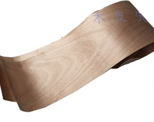 5Pieces/Lot L:2.5Meters Width:16cm Peach Core Wood Veneer  Loudspeaker Shell Veneer(back non woven fabric)