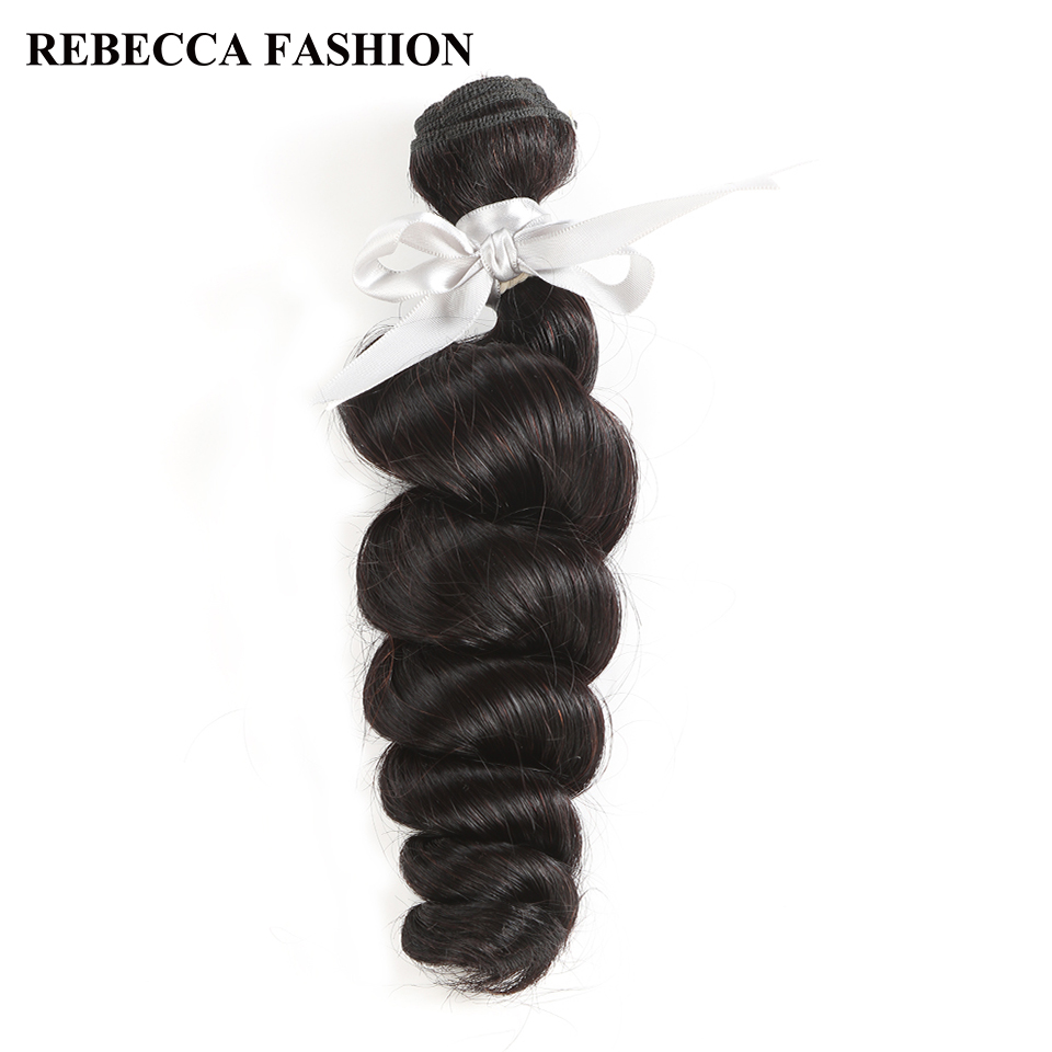 Rebecca Non Remy Peruvian Human Hair 1 Bundle 10 to 26 Inch Loose Wave Peruvian Hair Wea ...