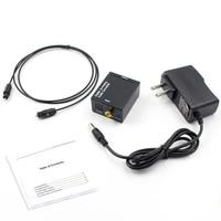 Топ предложения Цифровой оптический Toslink или SPDIF коаксиальный аналоговый L/R RCA аудио конвертер адаптер