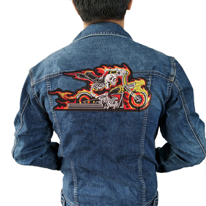 fire motorcycle Iron On Patch