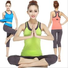 High quality Three-piece sets Women's Yoga sets The gym Dance fitness sportwear for Ladies