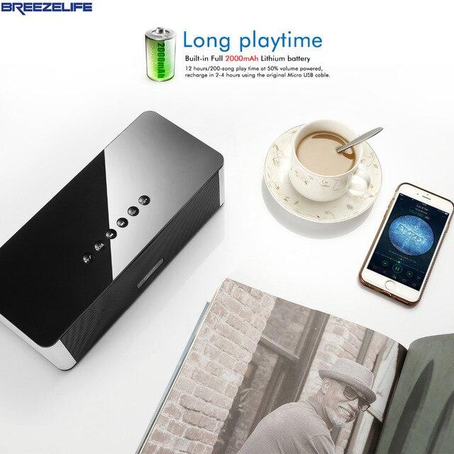Breezelife Динамик Bluetooth Портативный Динамик Bluetooth Динамик MP3 Super bass 10 Вт для Xiaomi для iPhone Радио Bluetooth Динамик