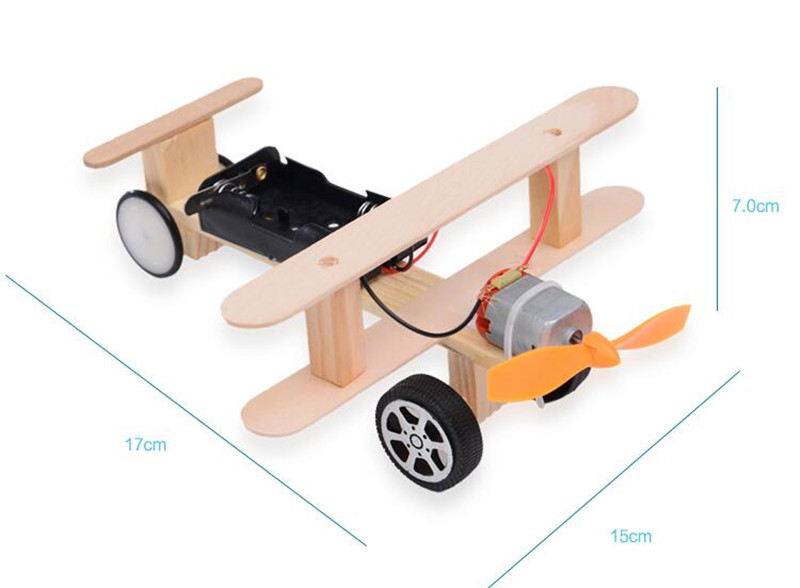 Happyxuan-DIY-Wind-Power-Glide-Plane-Model-Kit-Wood-Kids-Physical-Science-Experiments-Toy-Set-Preschool-Educational-5