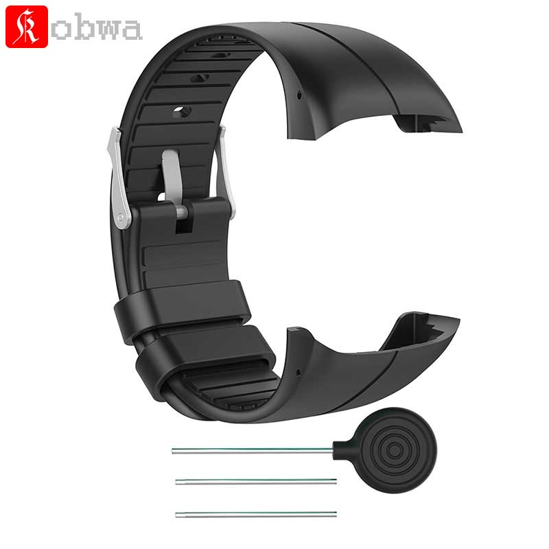 все цены на Kobwa Silicone Watch Strap Wrist band Replacement Watchband for Polar M400 M430 GPS Running Smart Sports Watch Wrist Strap онлайн