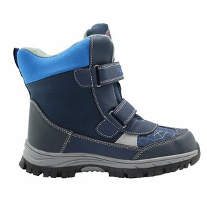 Image 5 - Apakowa winter kids snow boots mid calf bungee lacing waterproof boys boots big boys sport shoes wollen lining kids winter boots