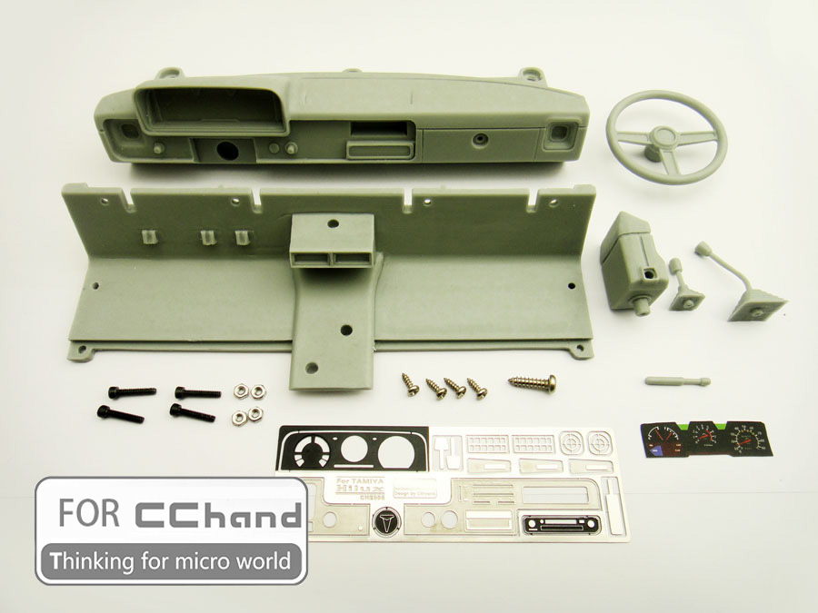 Detailed Interior Console Body Accessories For CCHand 1/10 TAMIYA Hilux Bruiser RC4WD TF2 RC 1:10 Car Toy(China)